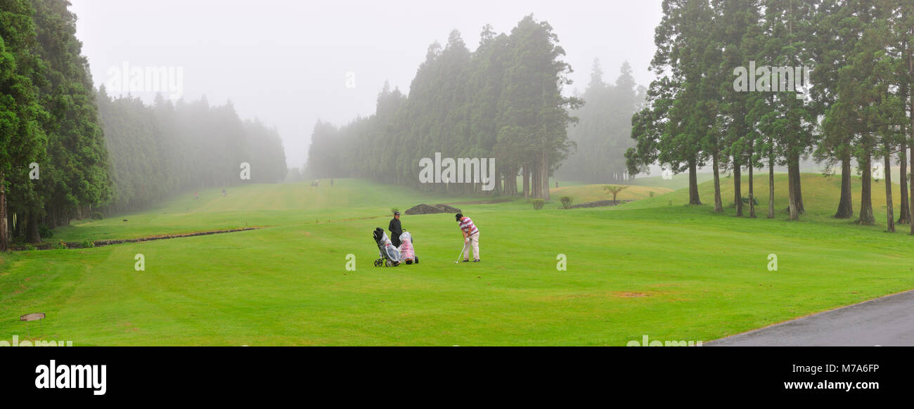 Golf course. Terceira island, Azores. Portugal - Stock Image