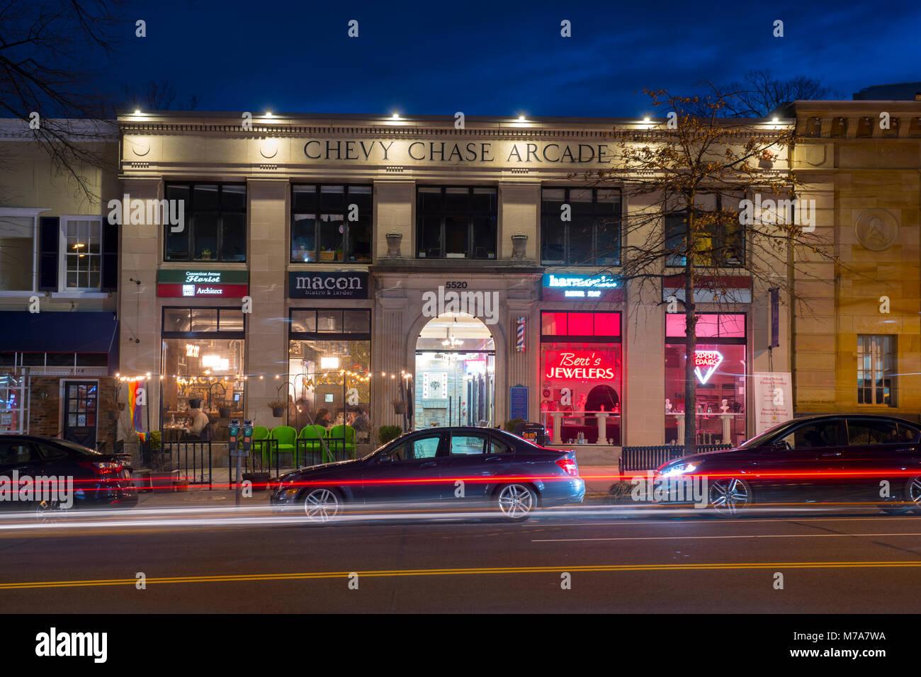 Usa Washington Dc Chevy Chase Arcade Northwest Washington
