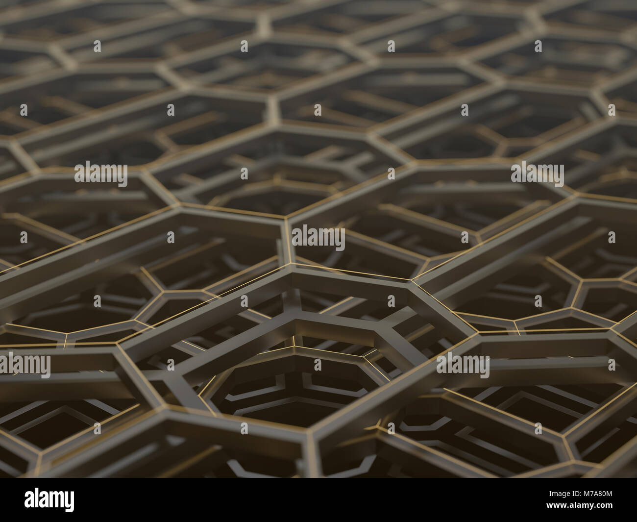 Abstract hexagonal structure, illustration. - Stock Image