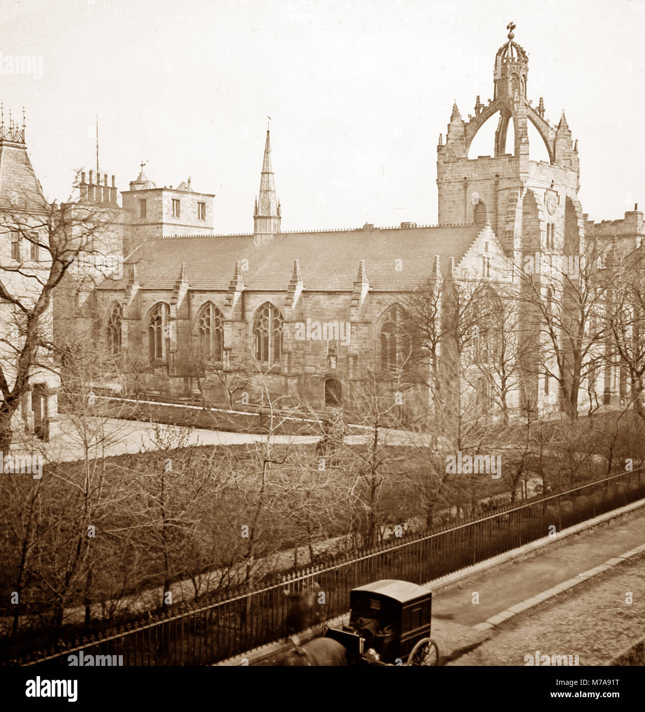 King's College, Aberdeen University, Victorian period - Stock Image