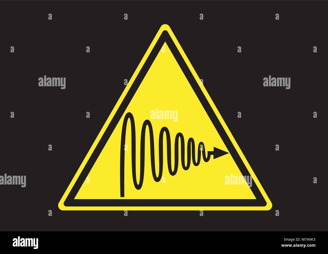 Design vector of ultraviolet wave radiation sign - Stock Image