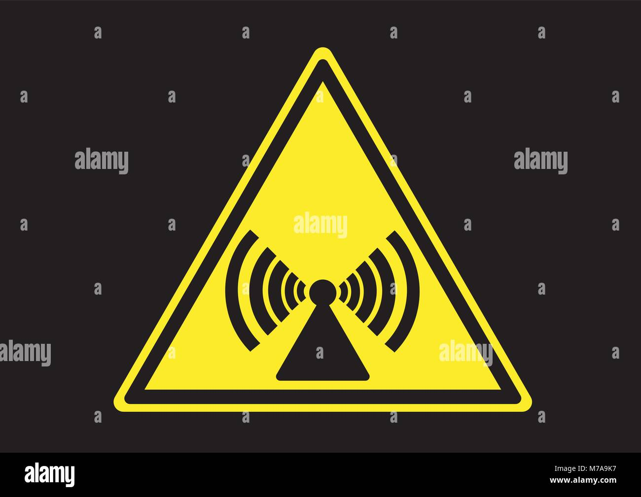 Design vector of non ionizng radiation wave - Stock Image