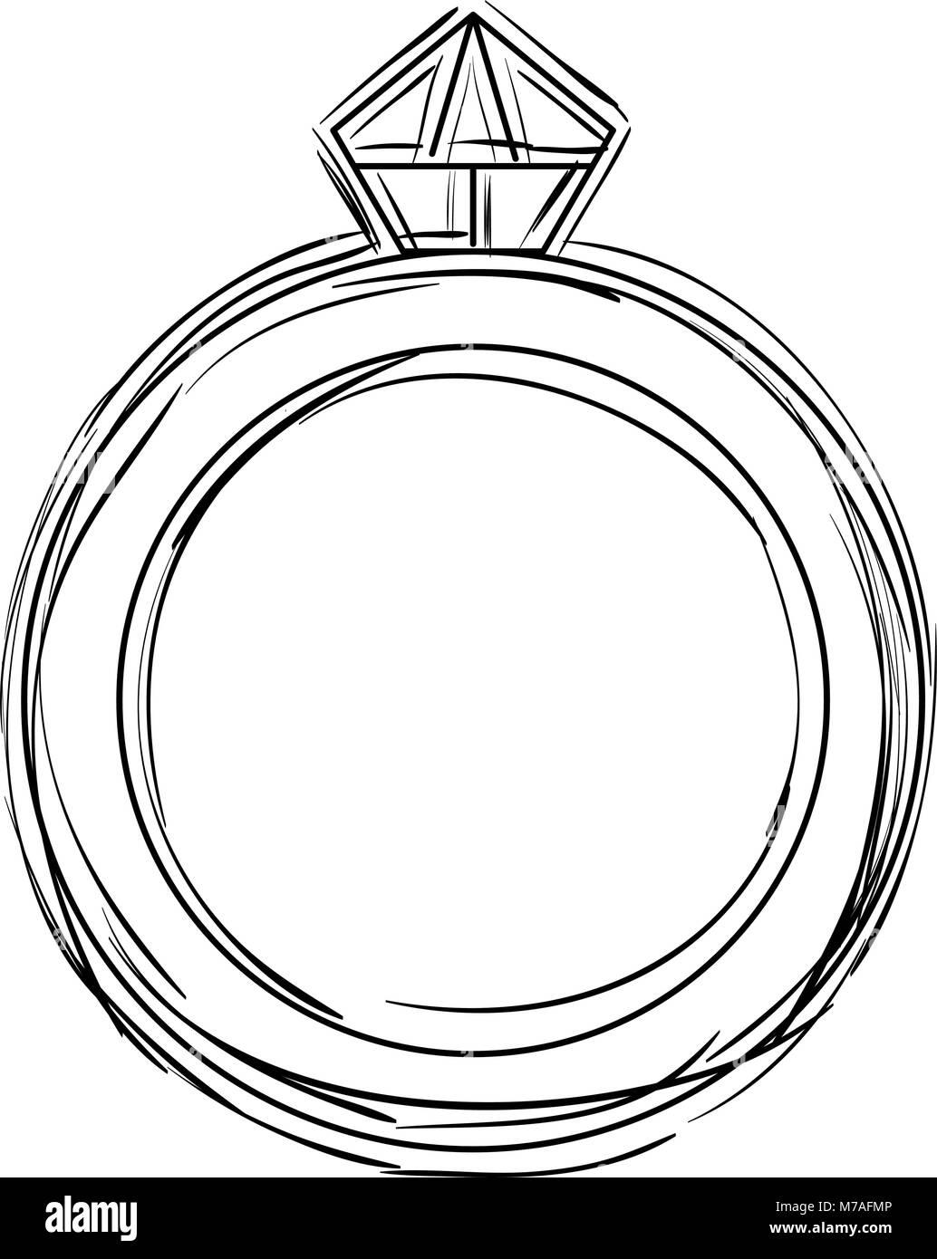 ring with diamond luxury icon - Stock Image