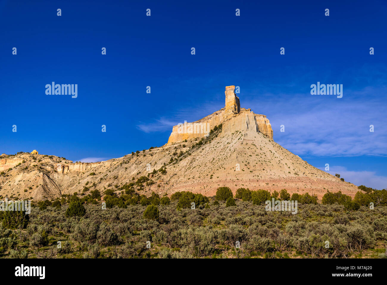 The USA, Utah, Garfield County, Bryce Valley, Henrieville, Promise rock Stock Photo