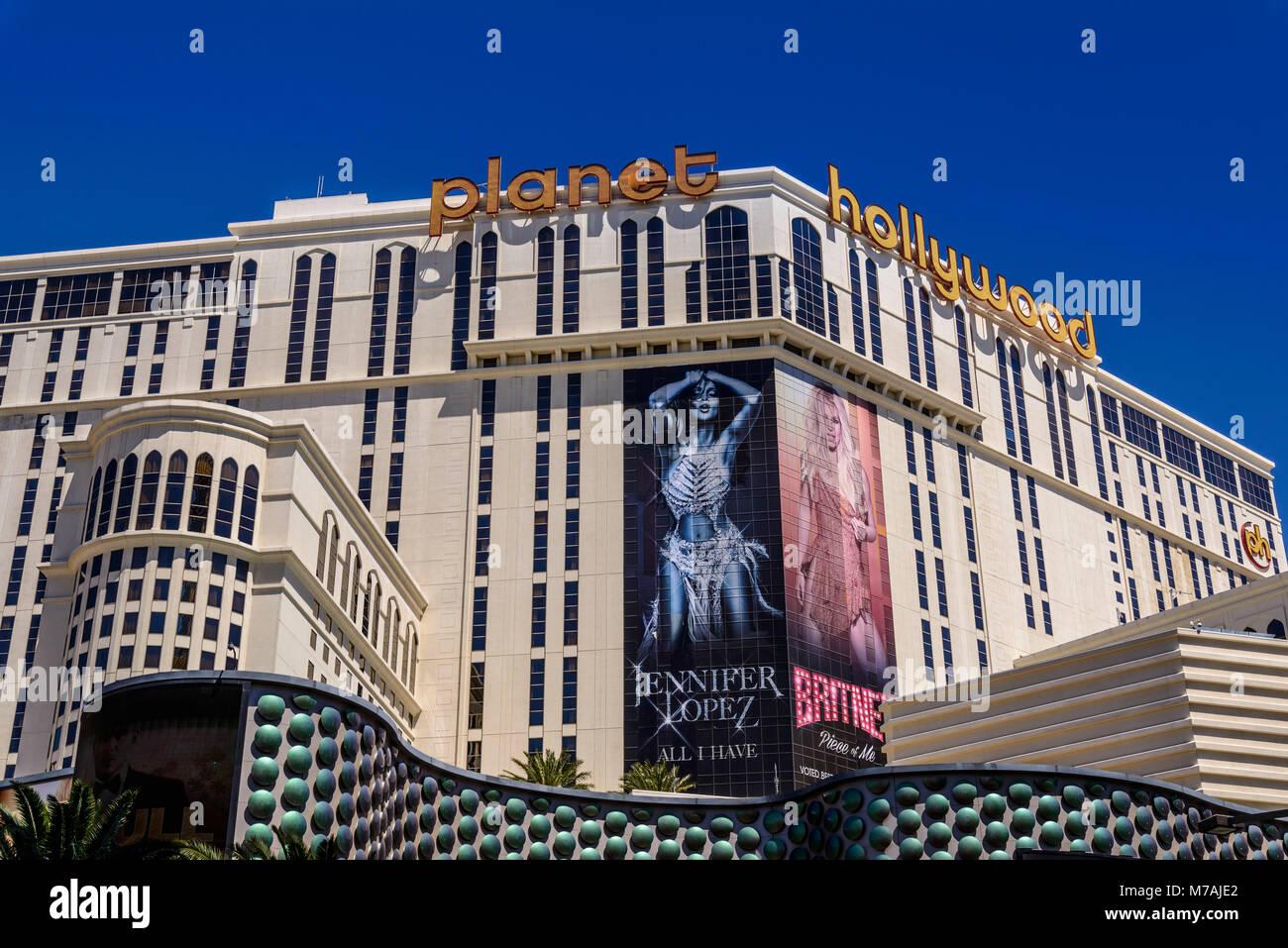 The USA, Nevada, Clark County, Las Vegas, Las Vegas Boulevard, The Strip, planet Hollywood - Stock Image