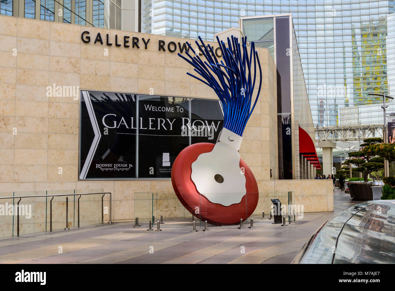 The USA, Nevada, Clark County, Las Vegas, west Harmon Avenue, city centre, Claes Oldenburg sculpture - Stock Image