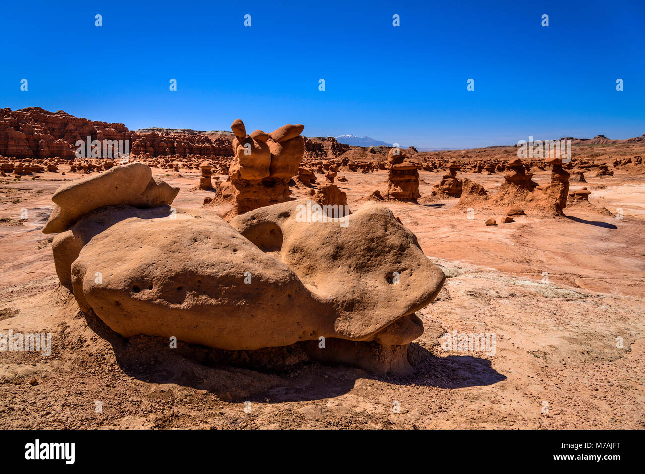 The USA, Utah, Emery County, Green River, Goblin Valley State Park, Goblins - Stock Image