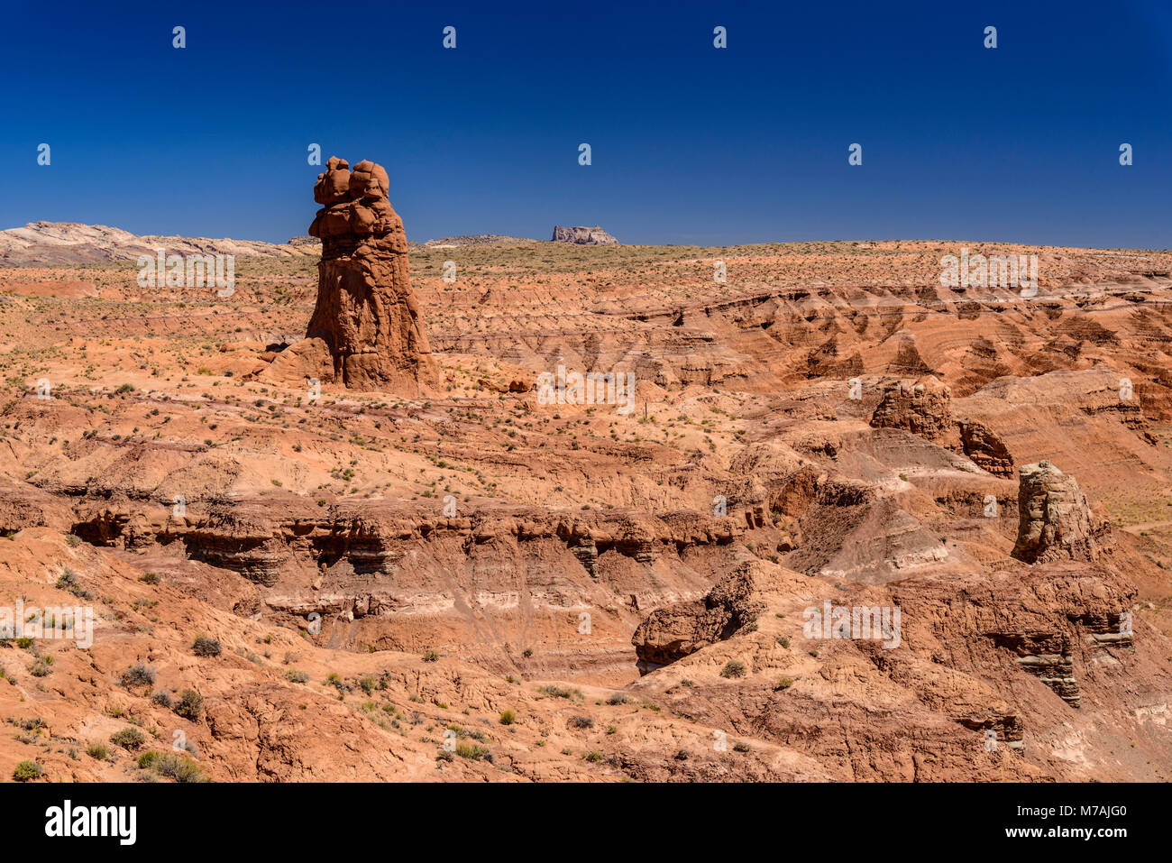 The USA, Utah, Emery County, Green River, Goblin Valley State Park, Carmel Canyon - Stock Image