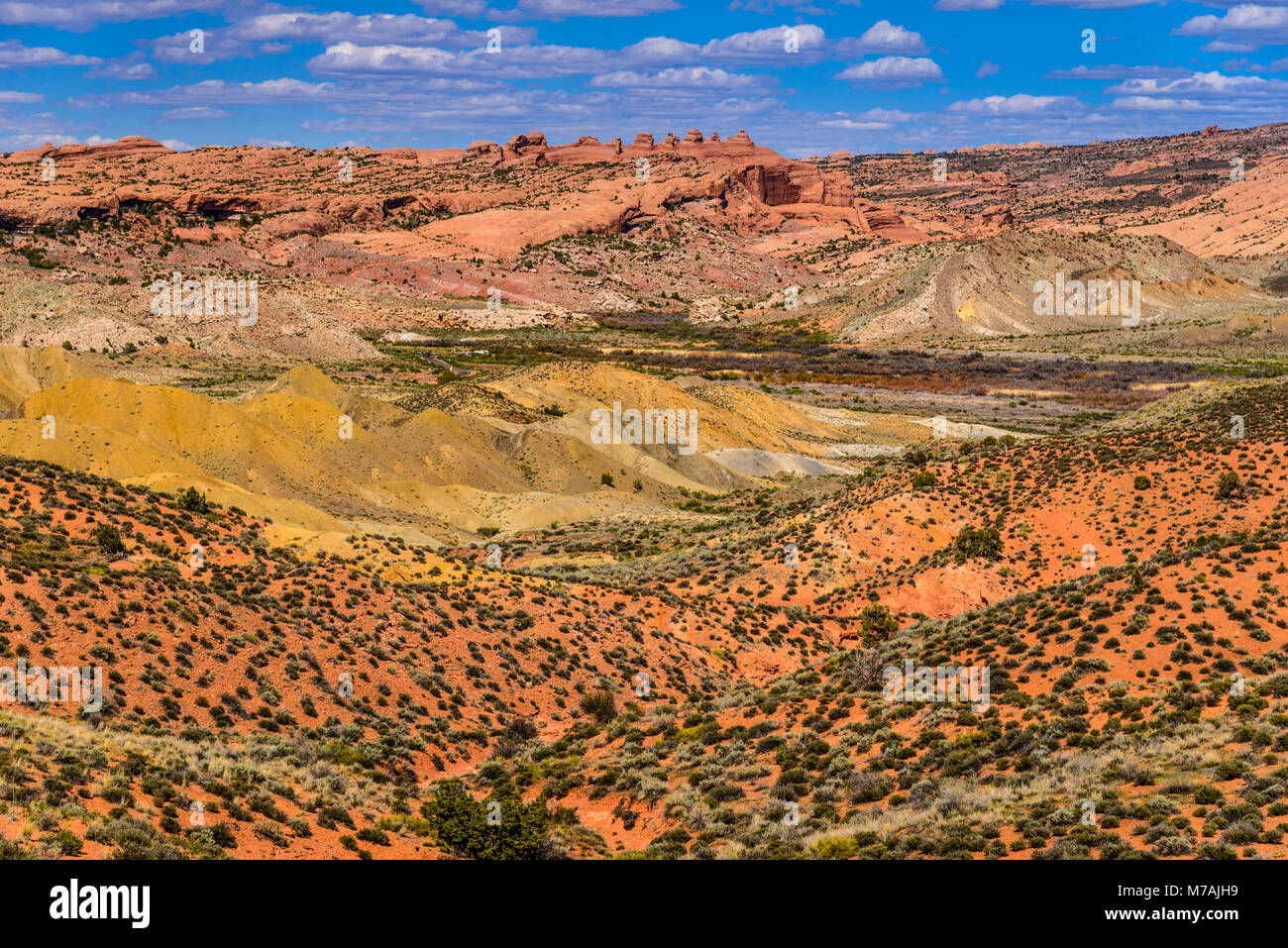 The USA, Utah, Grand county, Moab, Arches National Park, cache Valley - Stock Image
