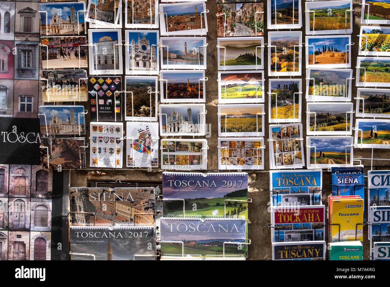 Postcards from Italy, Tuscany - Stock Image