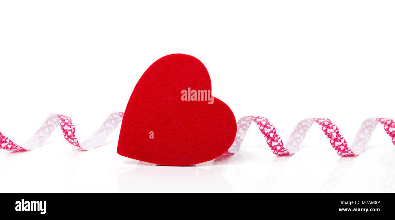 Heart and ribbon - Stock Image