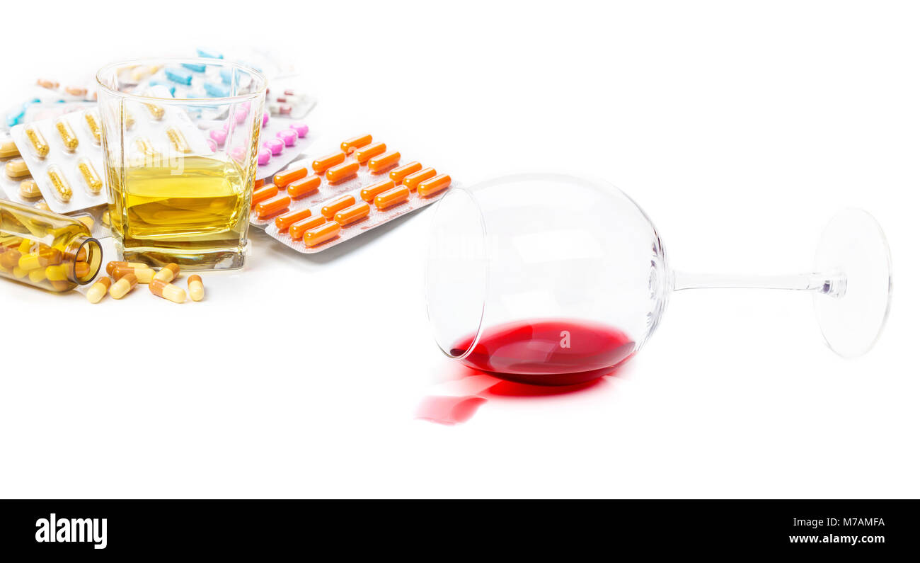 Addiction, alcohol, drugs - Stock Image