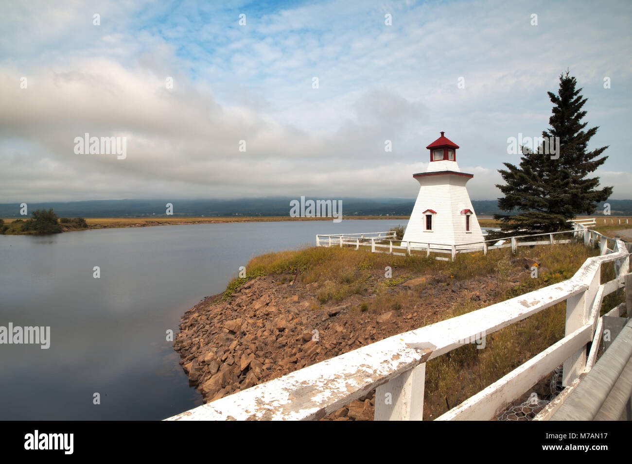 Canada, New Brunswick, Anderson Hollow, lighthouse - Stock Image