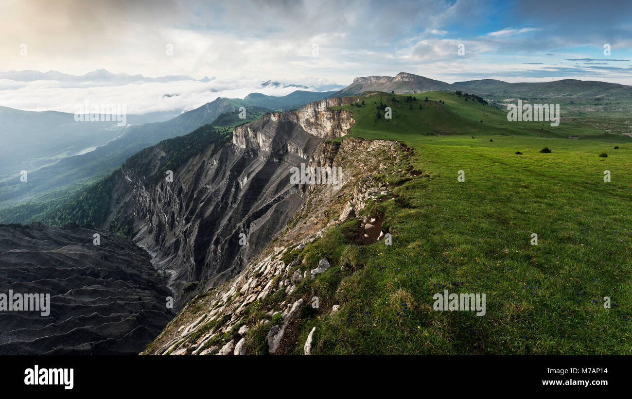 Scarp near Mont Aiguille, Dauphine, France - Stock Image