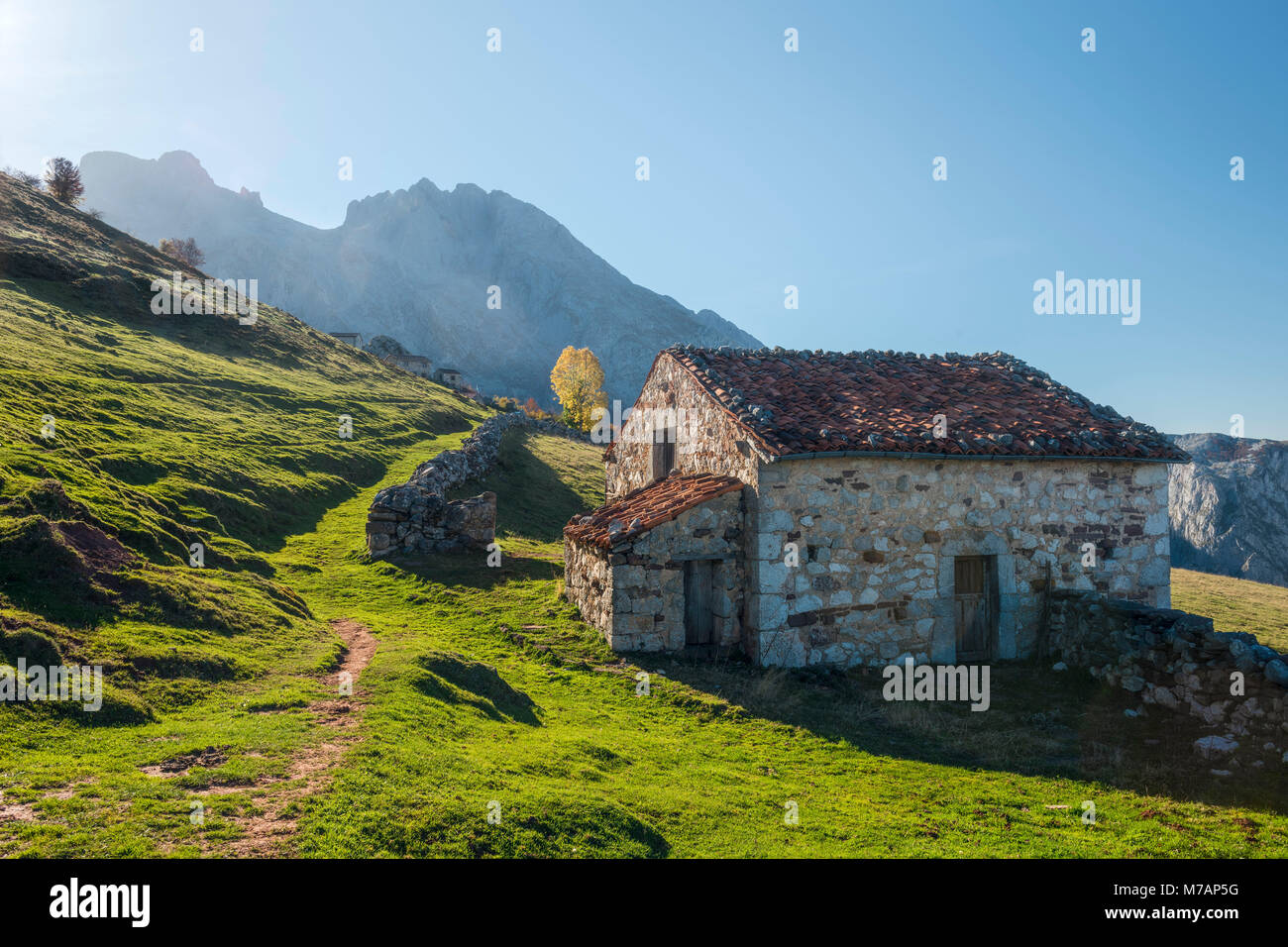 Alp in the Picos de Europa, Spain - Stock Image