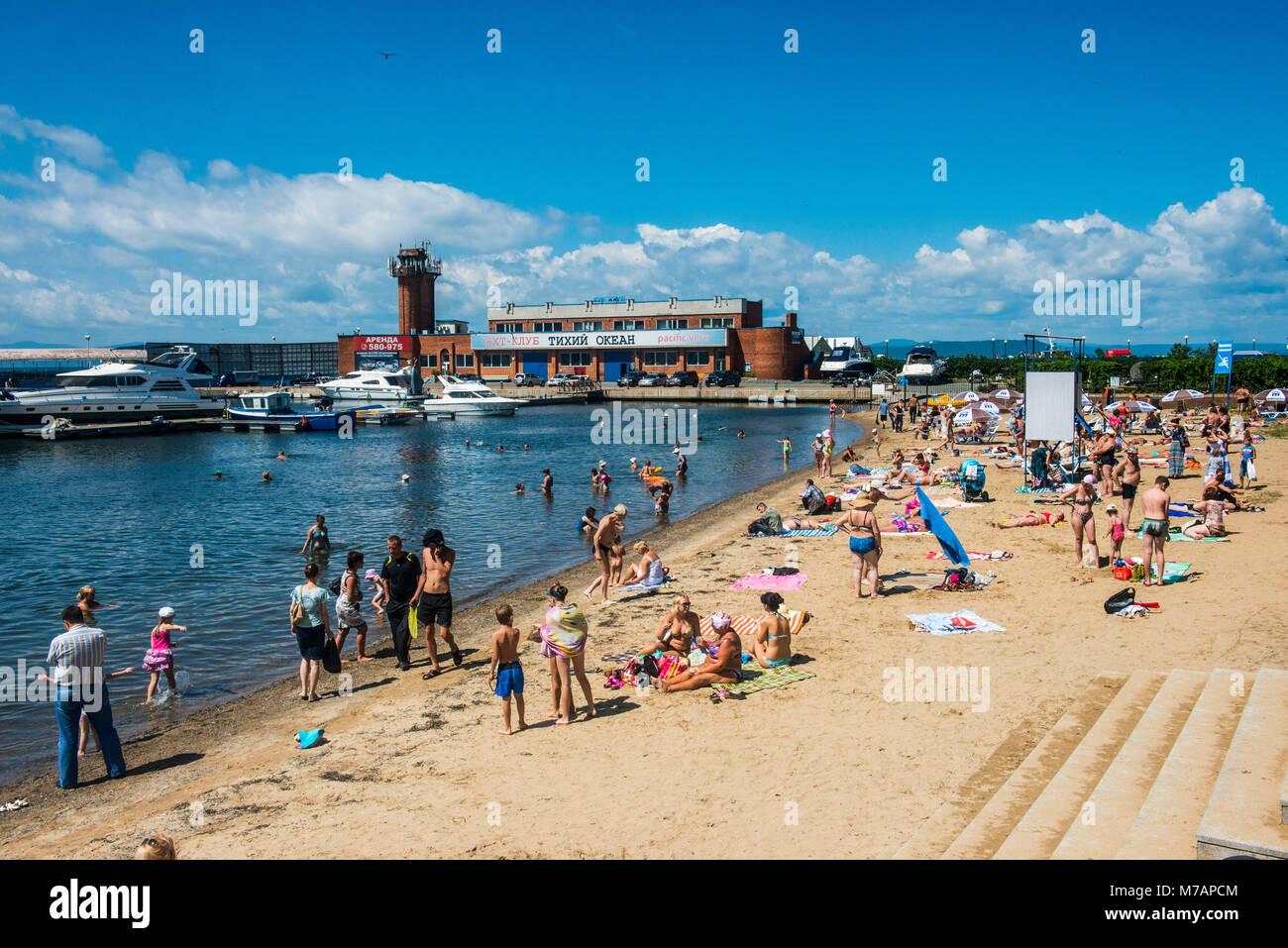 Sportivnaya Gavan boulevard, Vladivostok, Russia - Stock Image