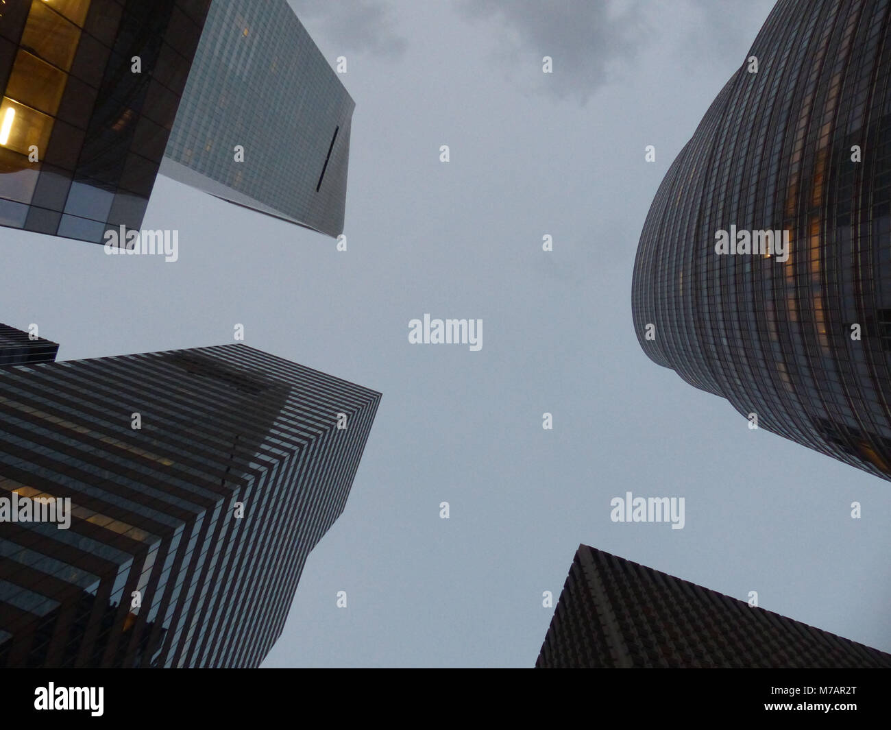 New York skyscrapers at 53Rd and Third, including Citigroup Center designed by Architects William LeMessurier, Hugh - Stock Image