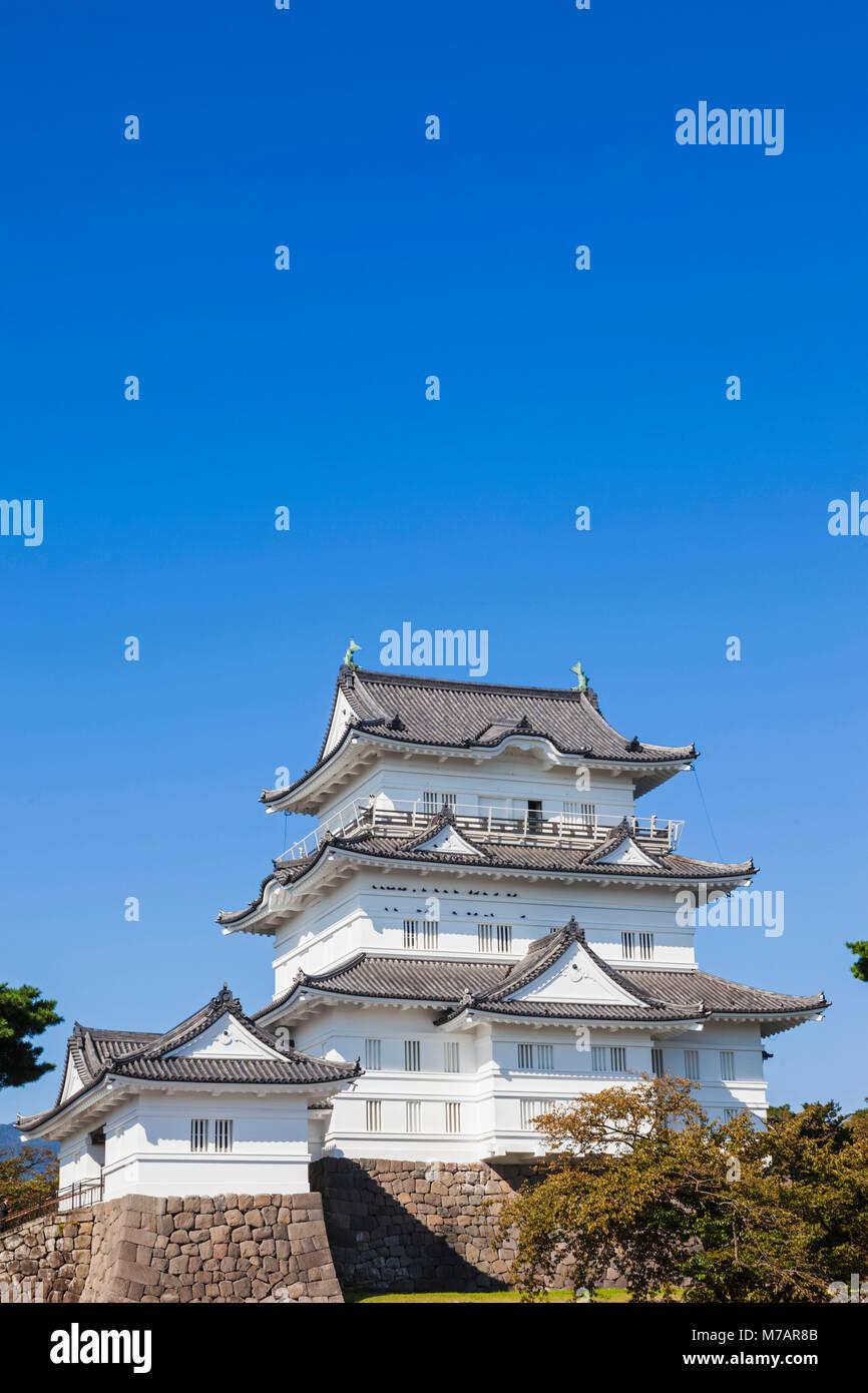 Japan, Honshu, Kanagawa Prefecture, Odawara, Odawara Castle, The Castle Tower - Stock Image