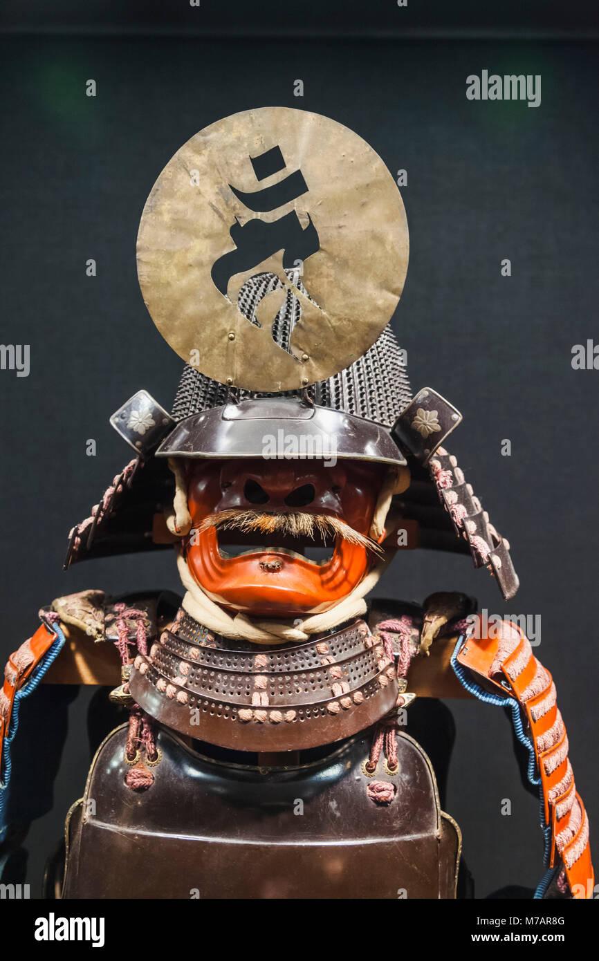 Japan, Honshu, Kanagawa Prefecture, Odawara, Odawara Castle, Tokiwagimon Gate, Samurai Gallery, Exhibit of Historic - Stock Image