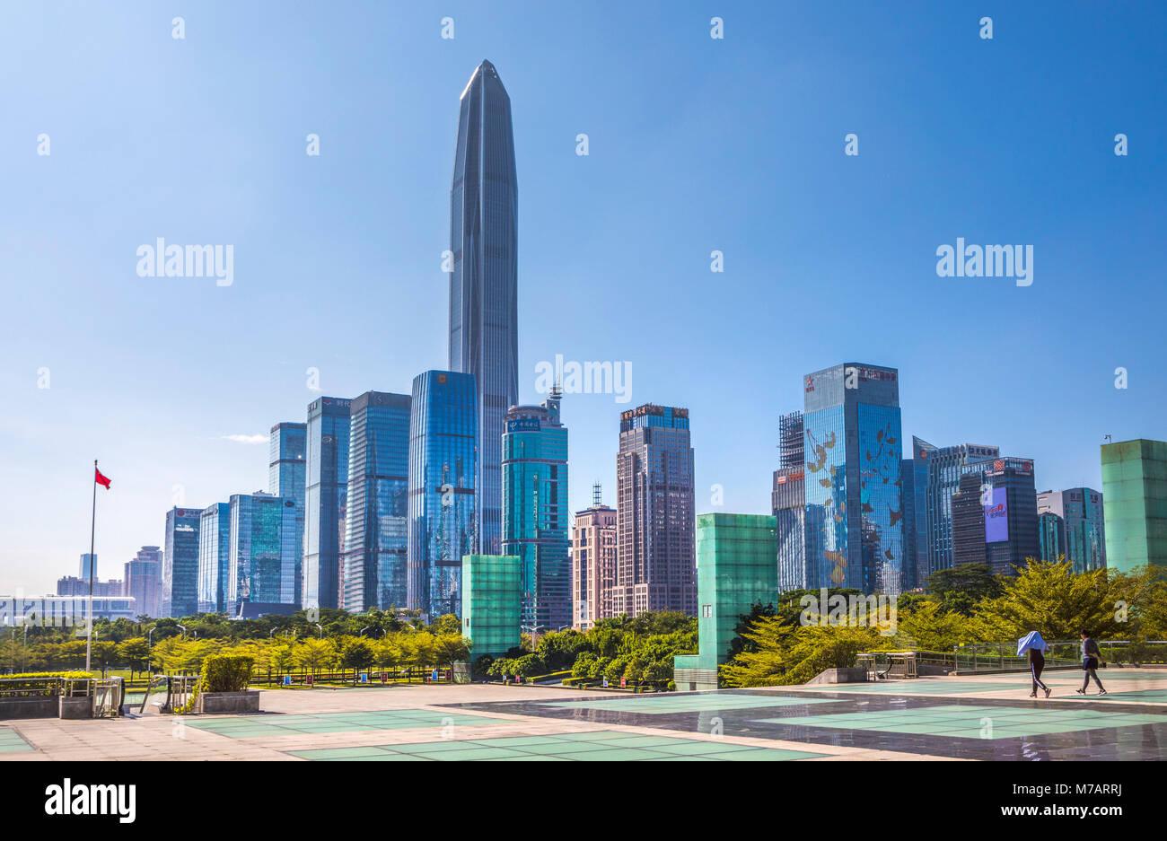 China, Shenzhen City, Shenzhen Pingan  Tower, Futian District - Stock Image