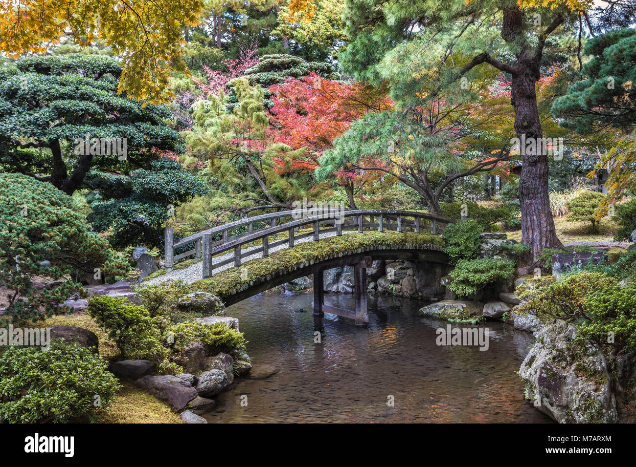 Japan,  Kyoto City, Imperial Palace Gardens Stock Photo