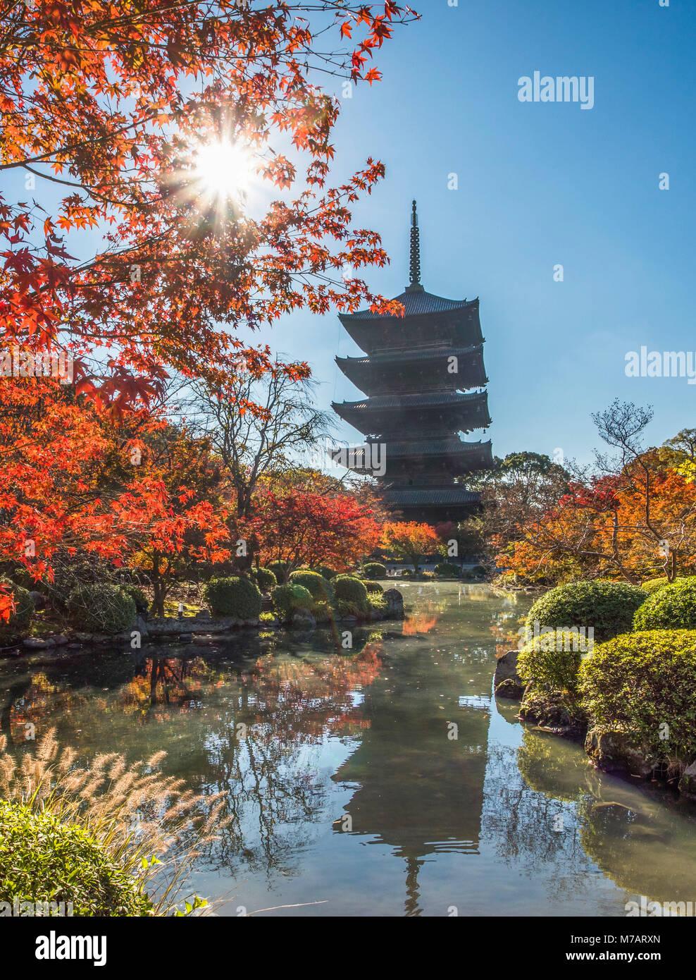 Japan,  Kyoto City, To-Ji Temple Stock Photo