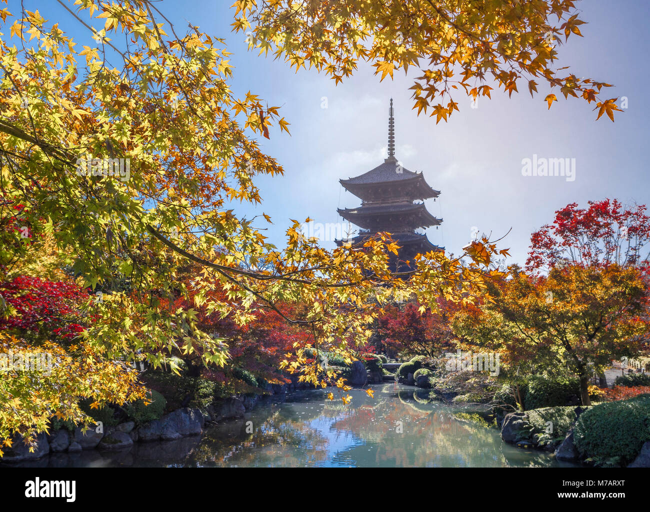 Japan,  Kyoto City, To-Ji Temple - Stock Image