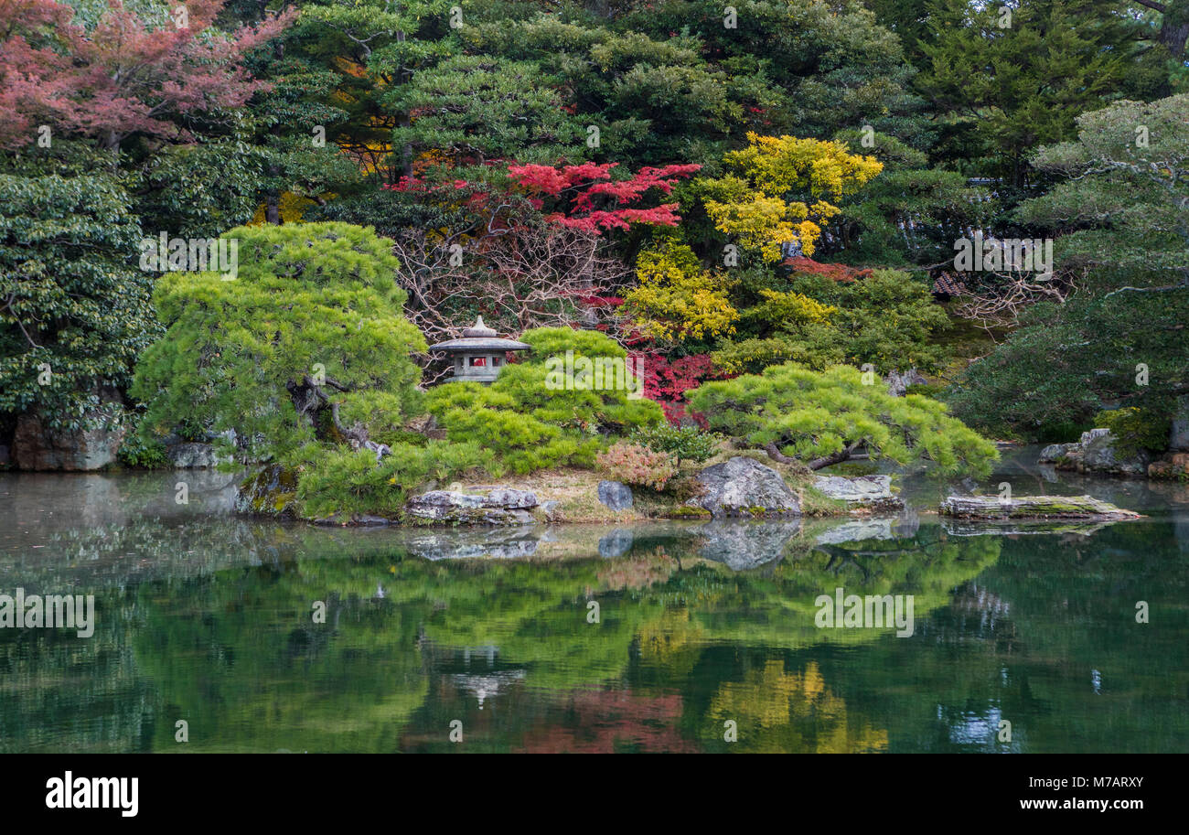 Japan,  Kyoto City, Imperial Palace Gardens - Stock Image