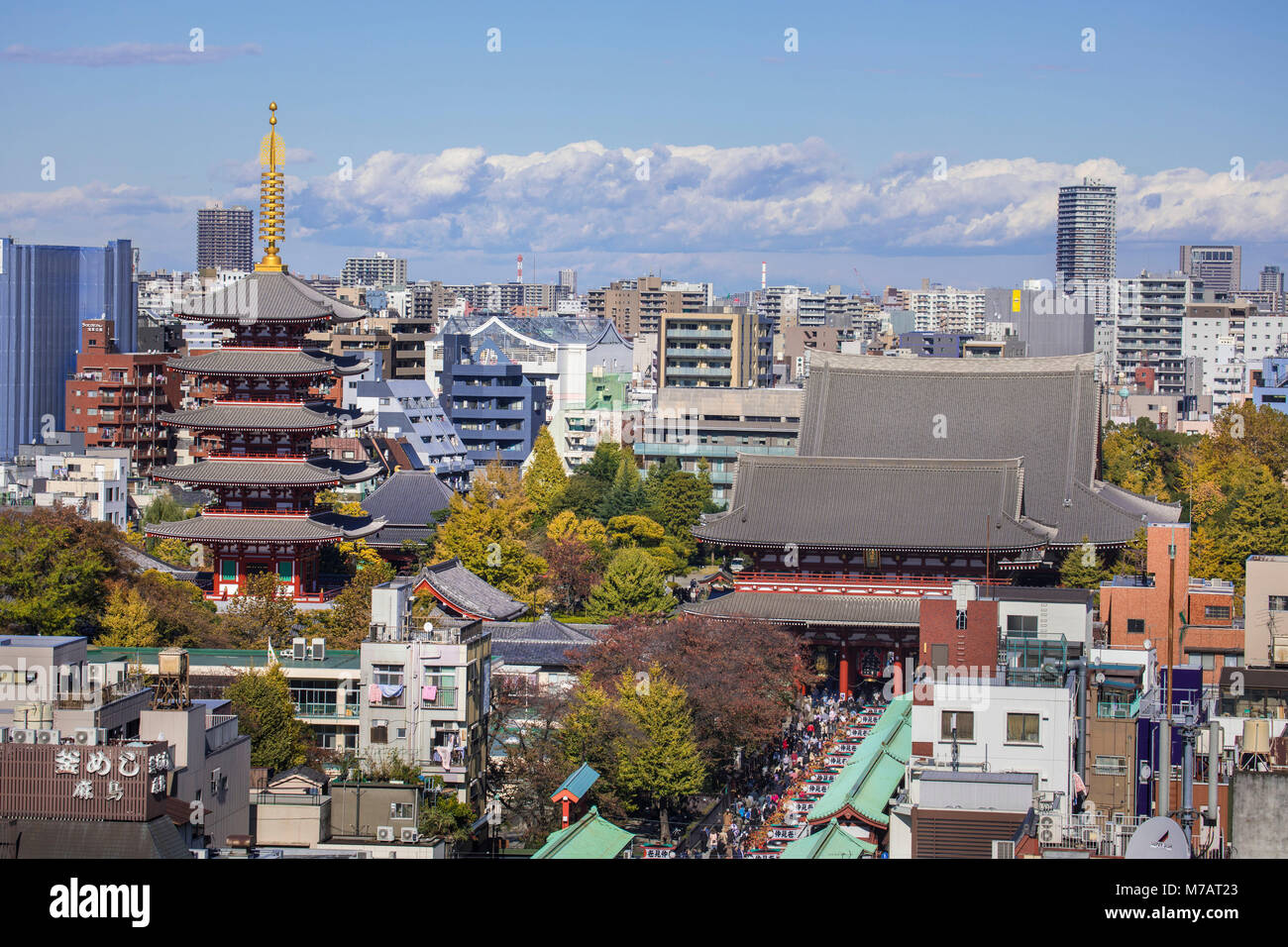 Japan, Tokyo City, Asakusa District, Sensoji Temple - Stock Image