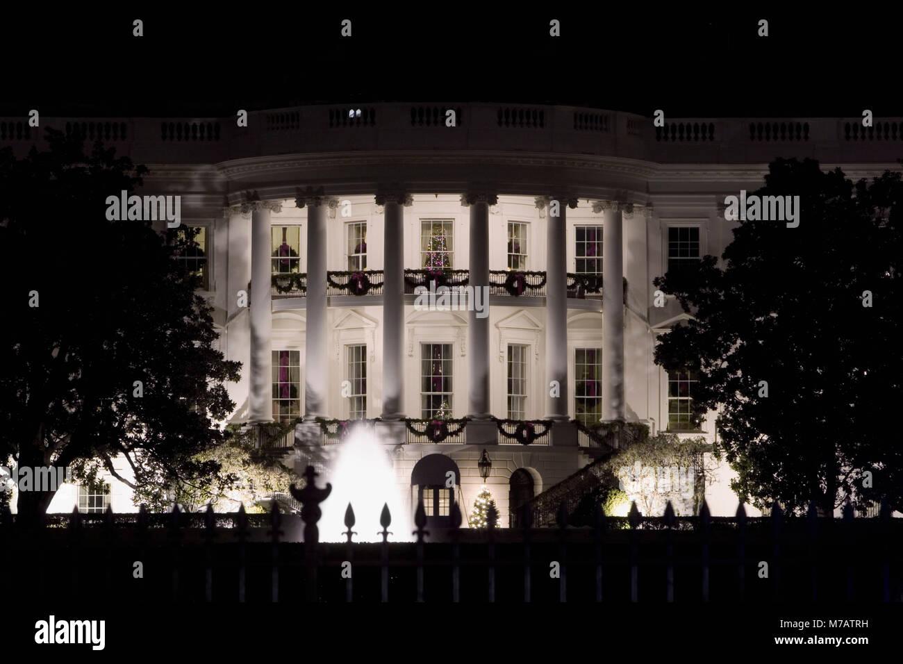 Facade of a government building, White House, Washington DC, USA - Stock Image