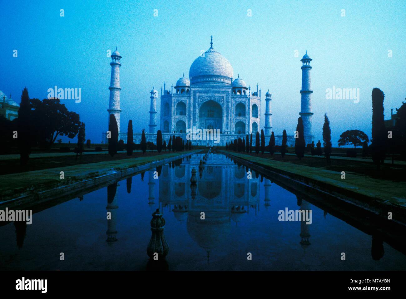 Facade of a monument, Taj Mahal, Agra, Uttar Pradesh, India - Stock Image
