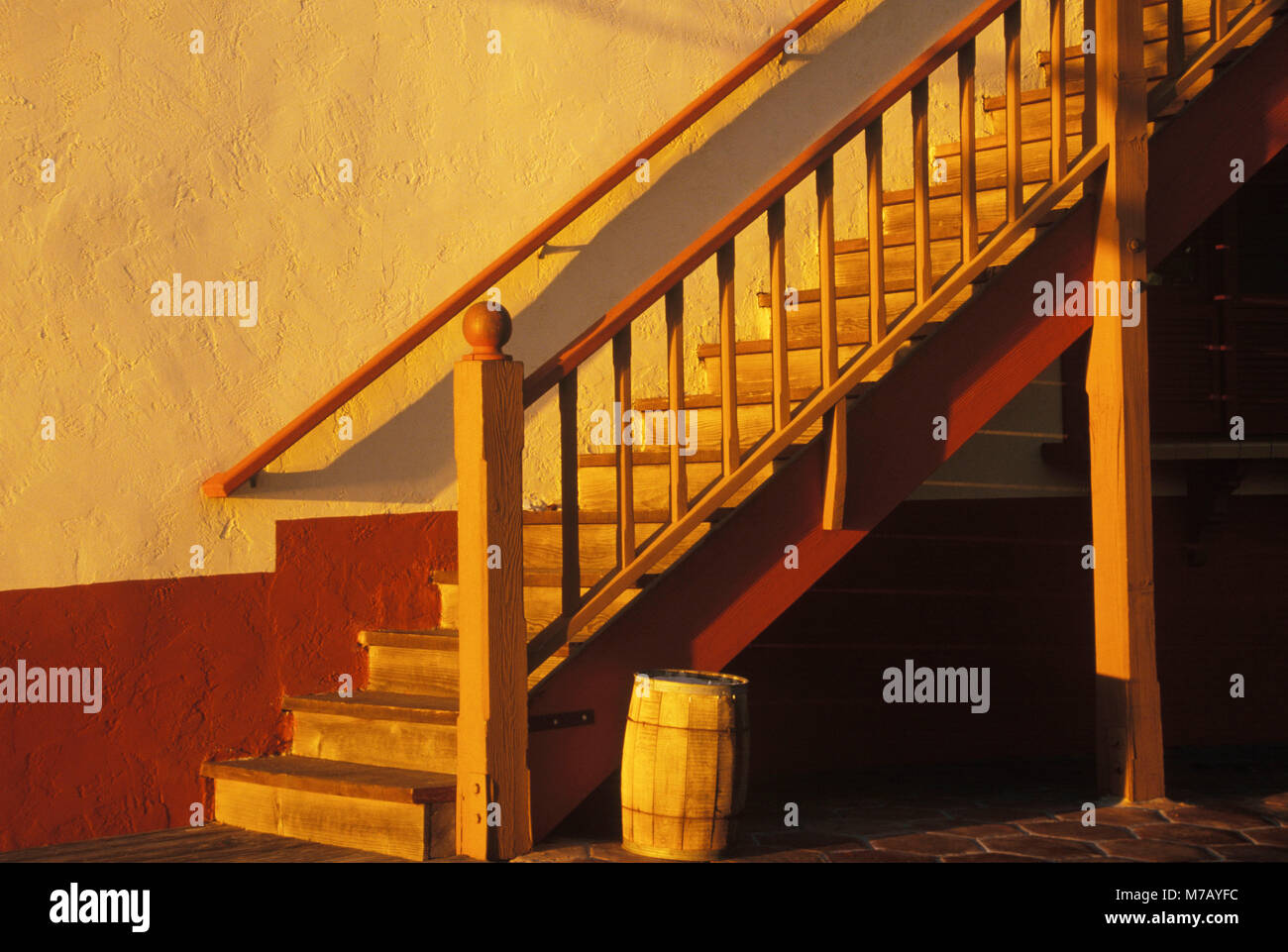Close-up of staircases in a house - Stock Image