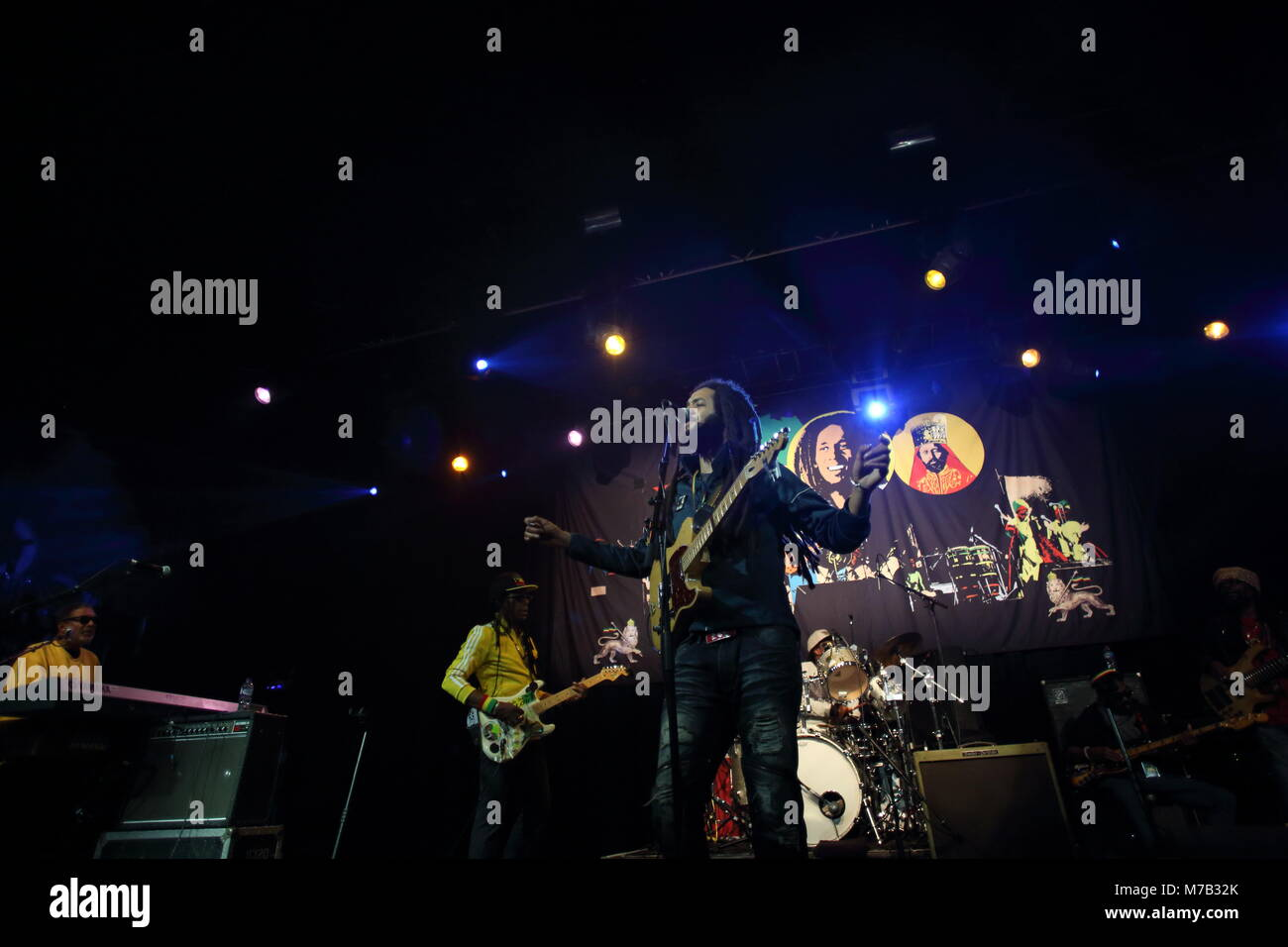 Manchester, UK. 9th March, 2018. The Wailers perform live at Manchester Academy. Credit: Simon Newbury/Alamy Live - Stock Image
