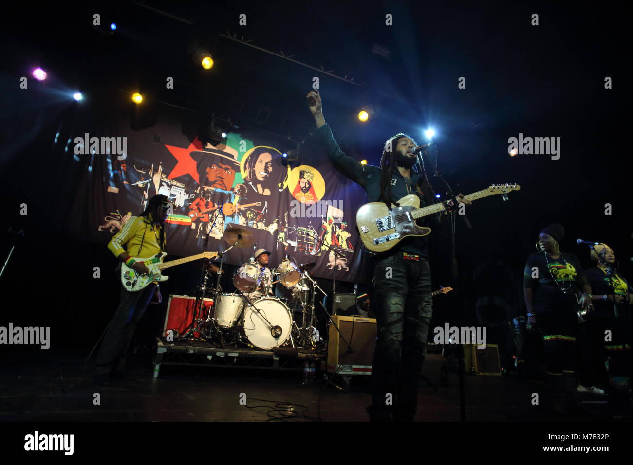 Manchester, UK. The Wailers perform live at Manchester Academy. Credit: Simon Newbury/Alamy Live News - Stock Image