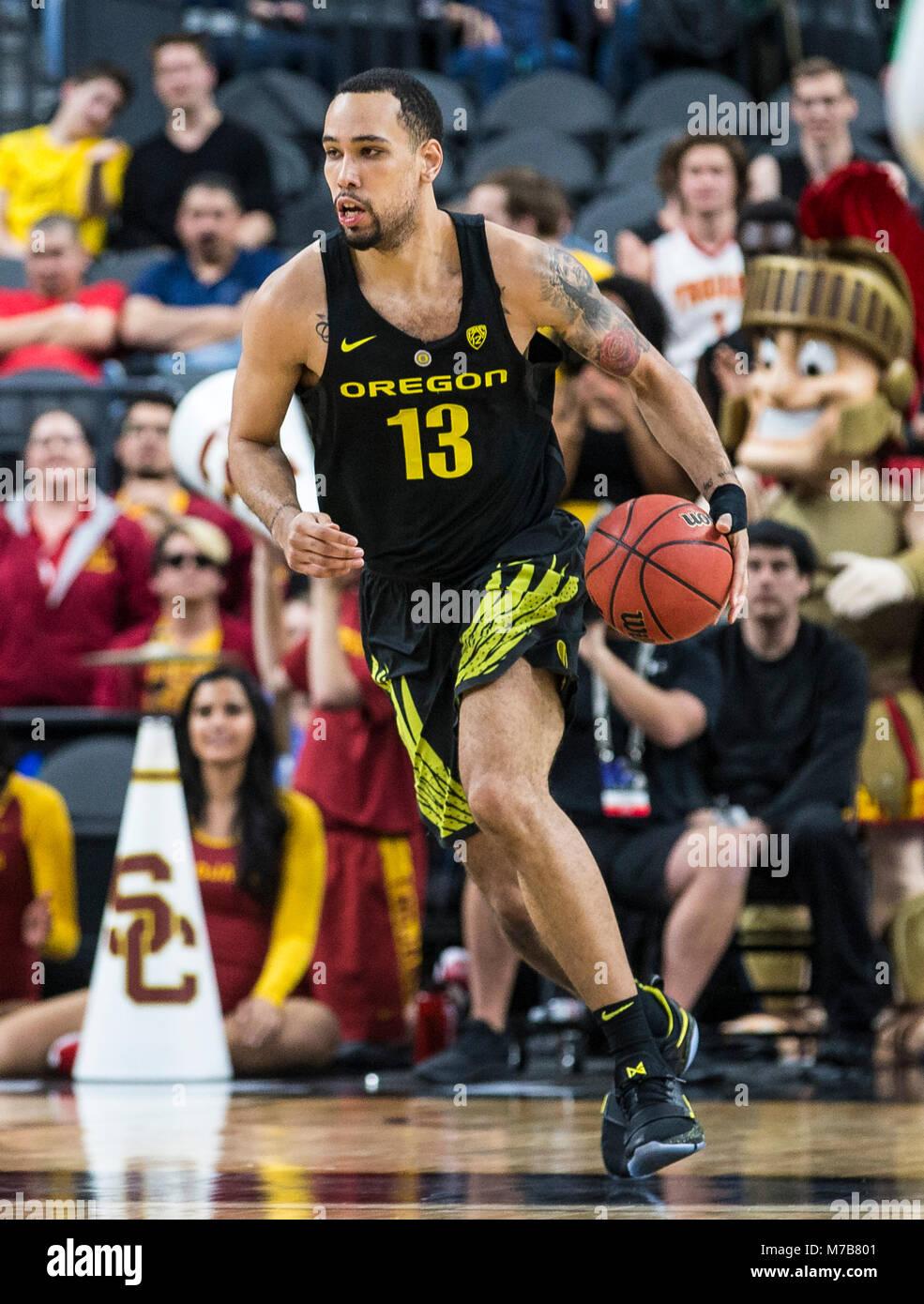 Mar 09 2018 Las Vegas, NV, U.S.A. Oregon forward Paul White (13 Stock Photo: 176654017 - Alamy