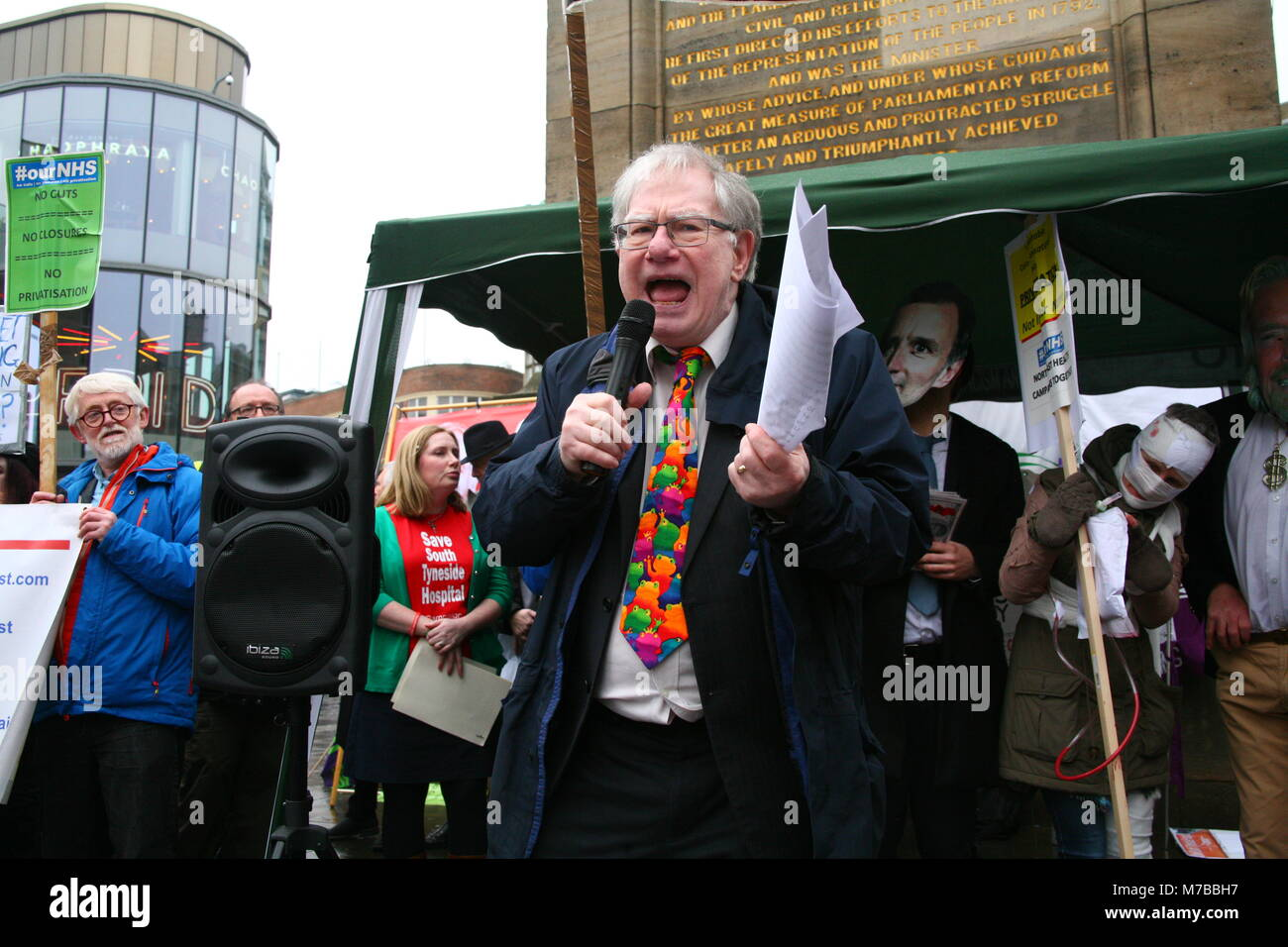 Newcastle, UK. 10th March, 2018. Save our NHS March & Protest against Cuts, Closures, Privatisation. David Whinham/Alamy - Stock Image