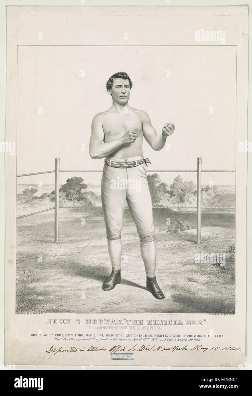 John C. Heenan, 'The Benicia Boy' - champion of the world - L.M. LCCN90710655 - Stock Image