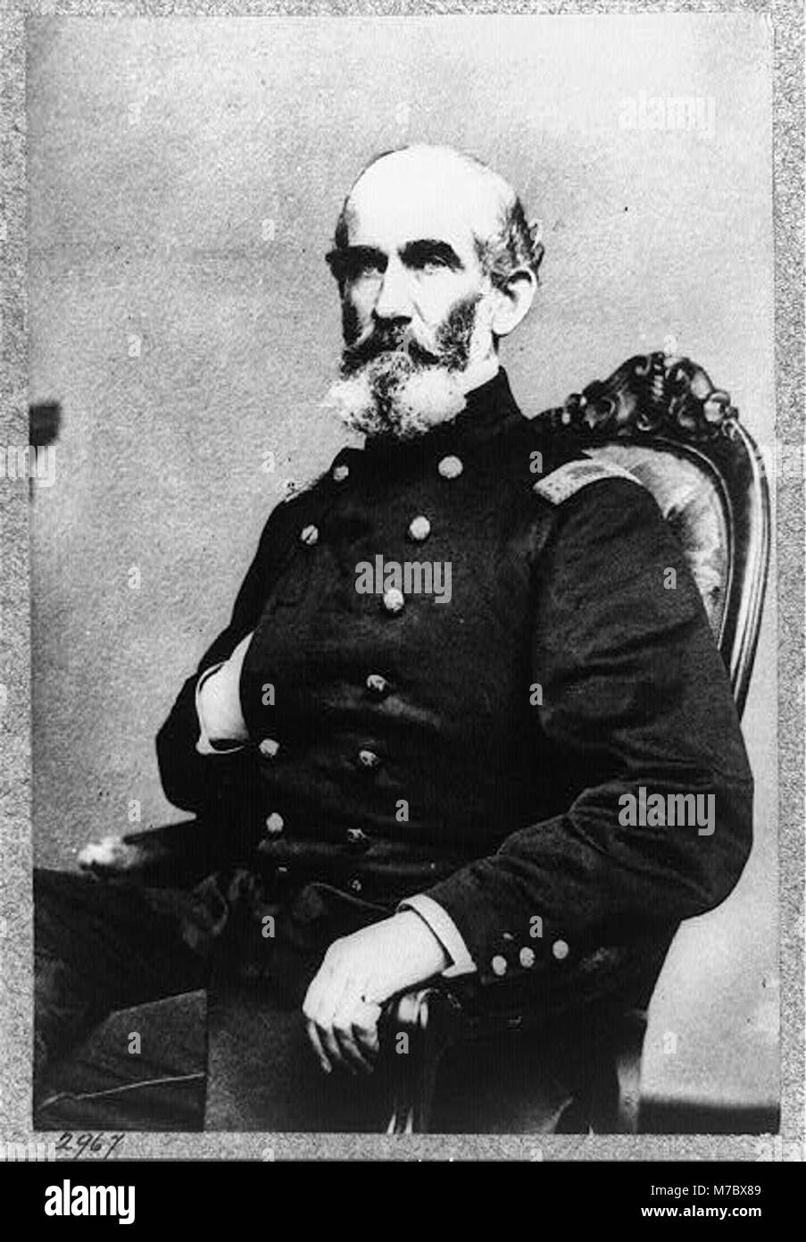 A.J. Smith, three-quarter length portrait, seated, facing right, right hand in his coat LCCN96514028 - Stock Image