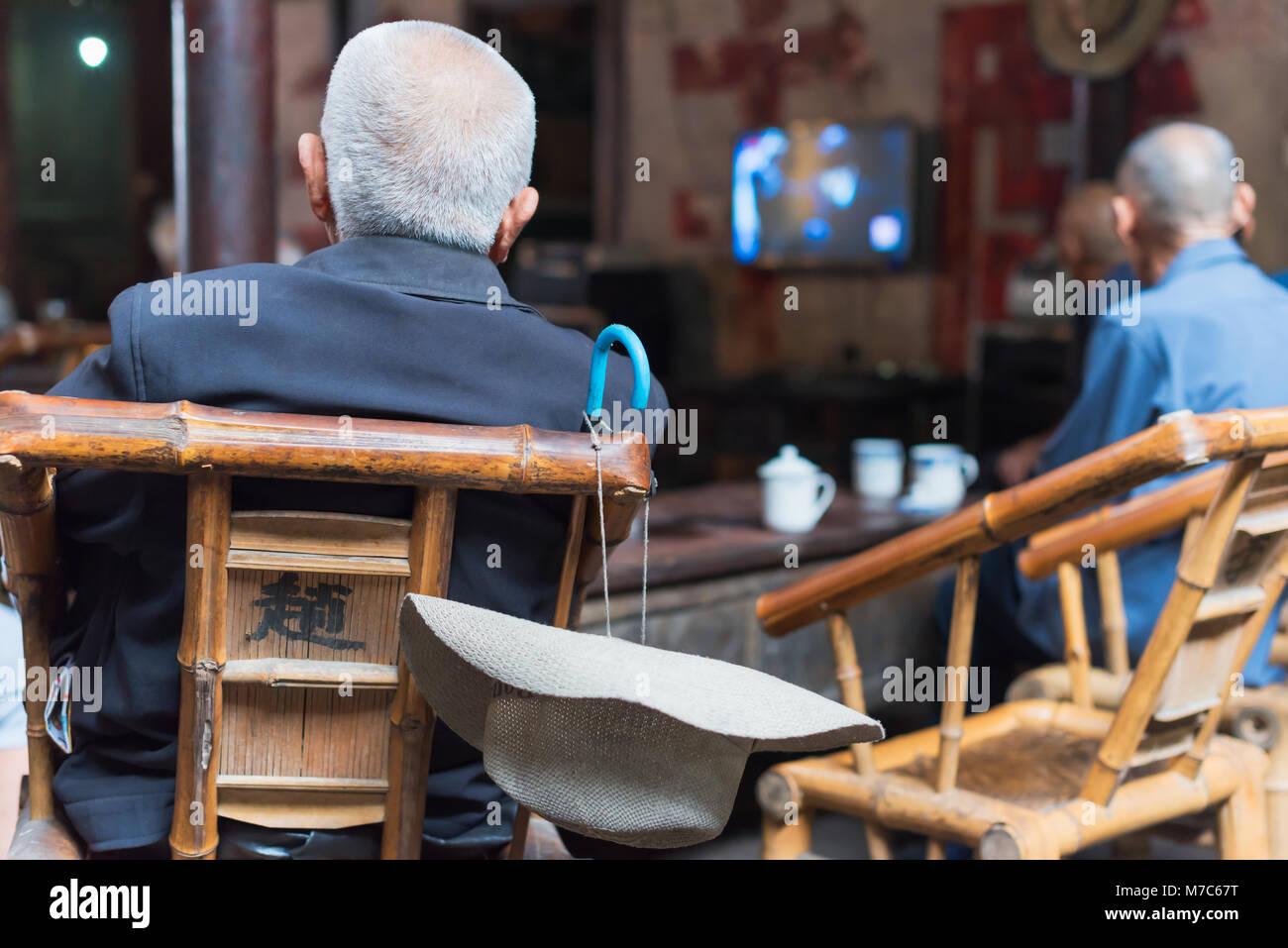 Old Man Watching Tv Stock Photos & Old Man Watching Tv ...