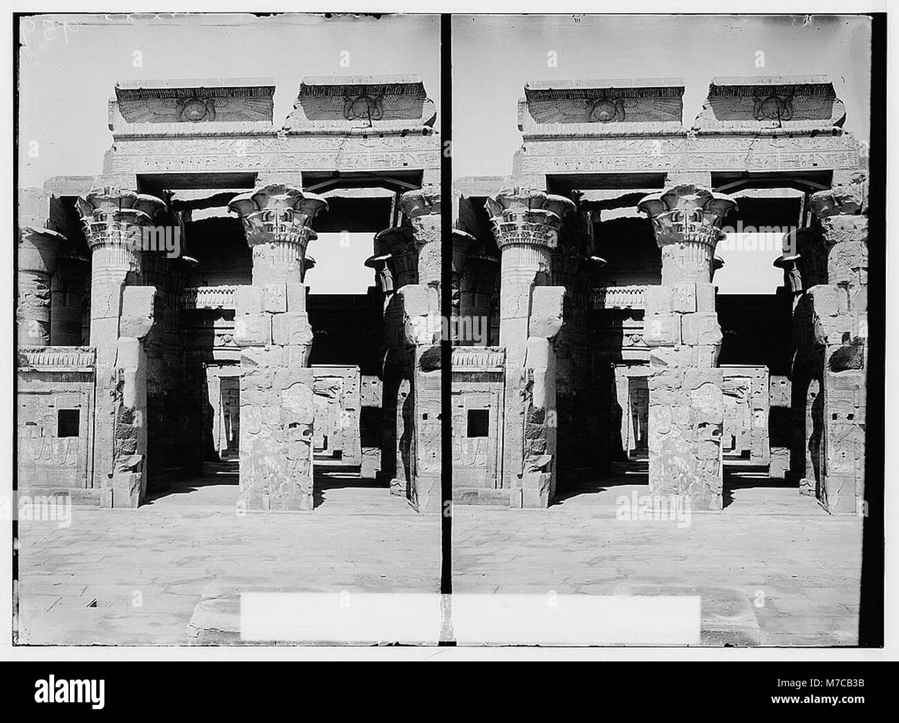 Egyptian views; Kom-Ombo. Great hypostyle hall of Temple of Sobk and Horoeris LOC matpc.01570 Stock Photo