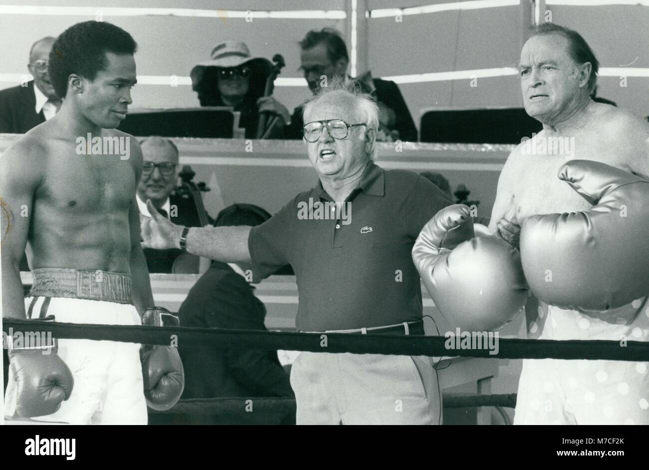 Sugar Ray Leonard, Micky Rooney, Bob Hope 1979 Photo By John Barrett-PHOTOlink Stock Photo