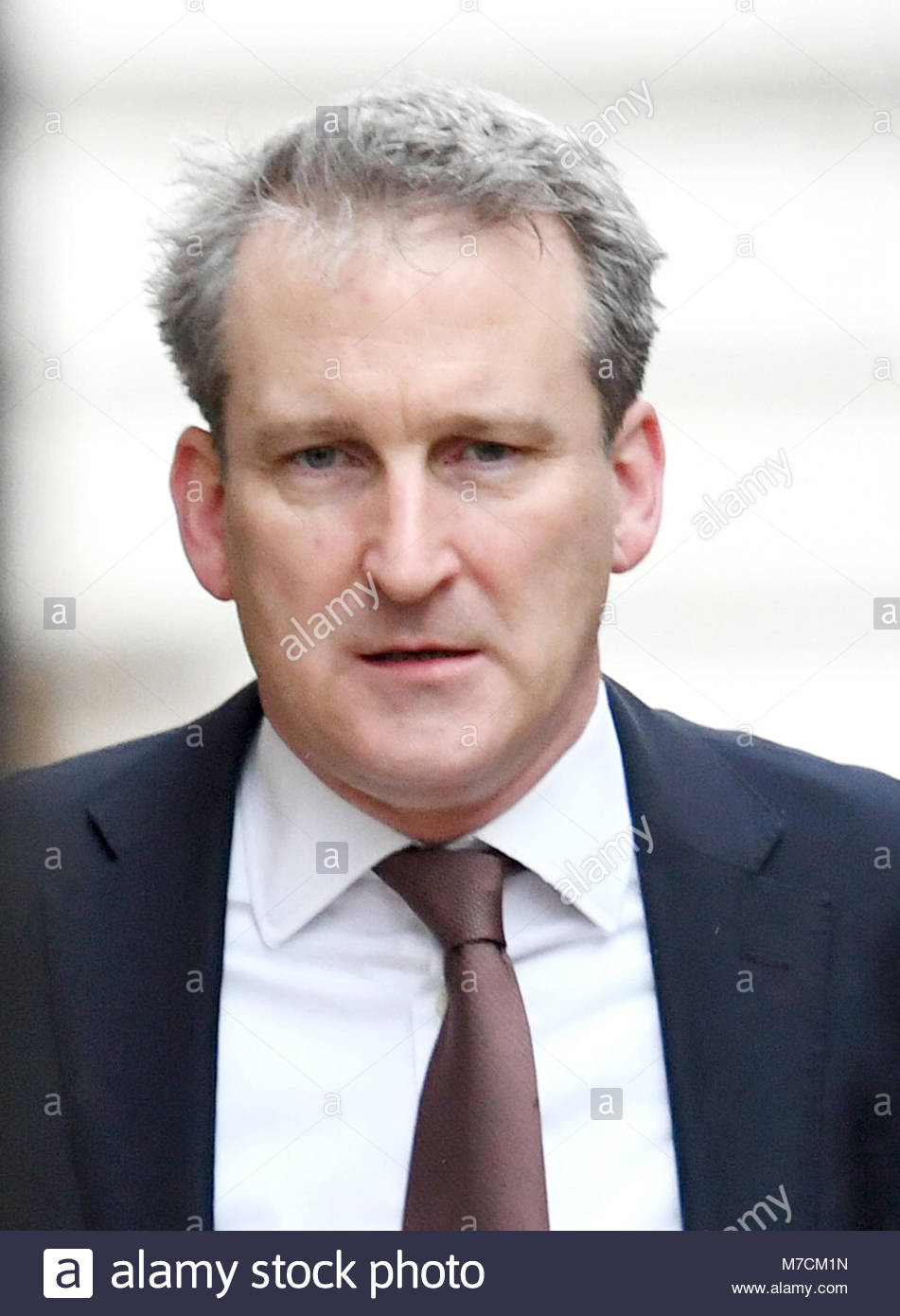 File photo dated 23/01/18 of Damian Hinds, who will pledge to cut teachers' hours and workload in a bid to tackle - Stock Image