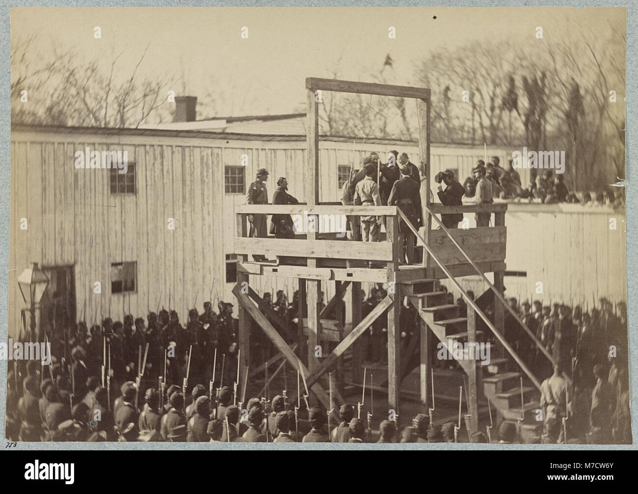 Execution of Captain Henry Wirtz (i.e. Wirz), C.S.A, adjusting the rope LCCN2013645515 - Stock Image