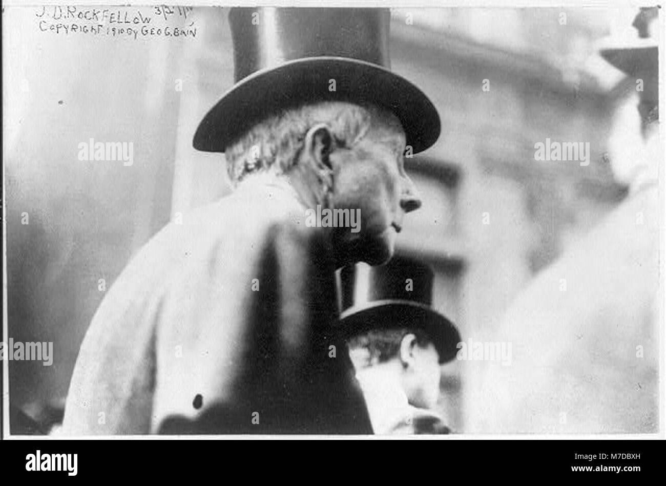John Davison Rockefeller, 1839-1937, head-and-shoulders portrait, profile LCCN2005689247 - Stock Image