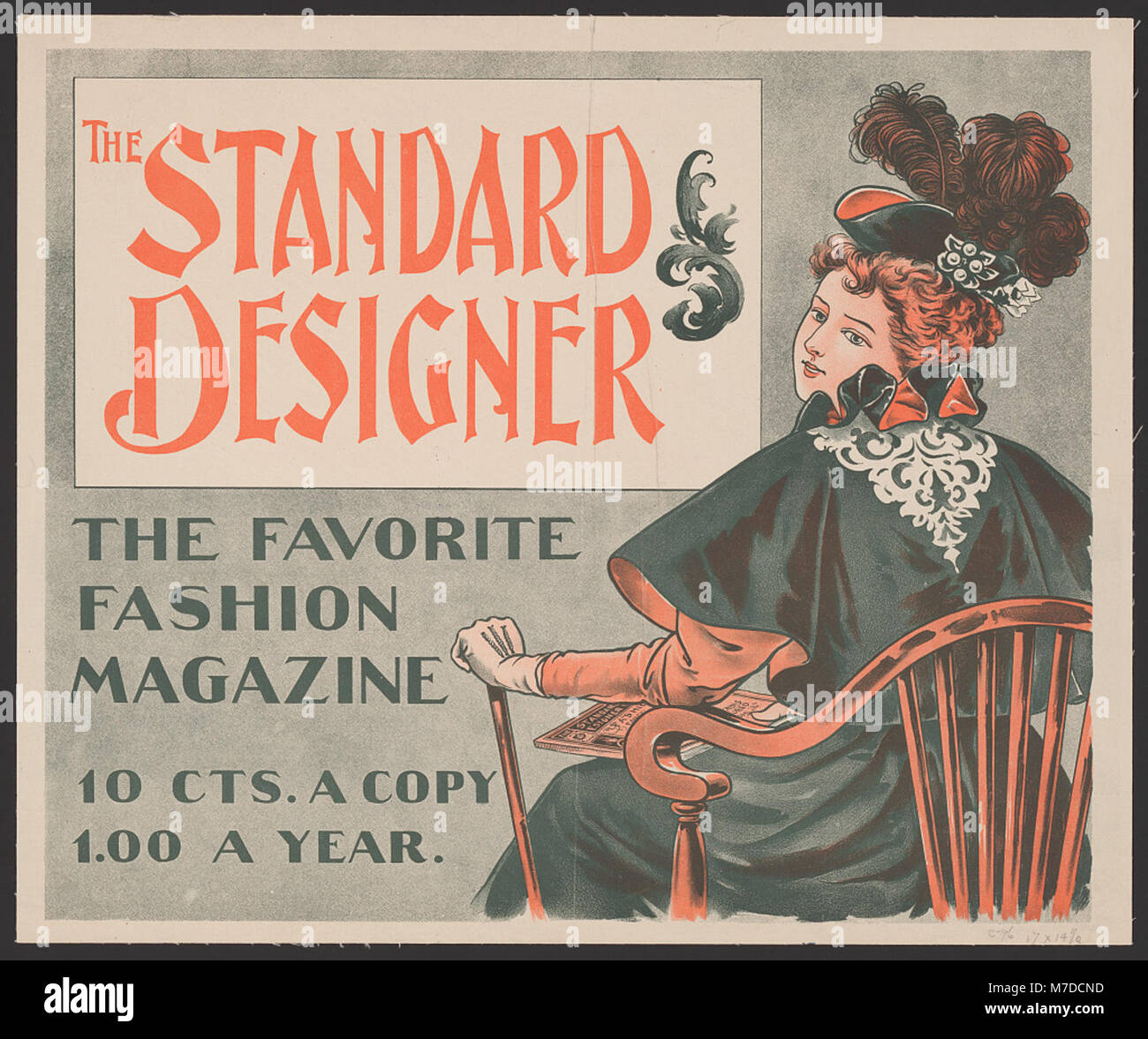 The Standard Designer, the favorite fashion magazine, 10 cts. a copy, 1.00 a year. LCCN2014646773 Stock Photo
