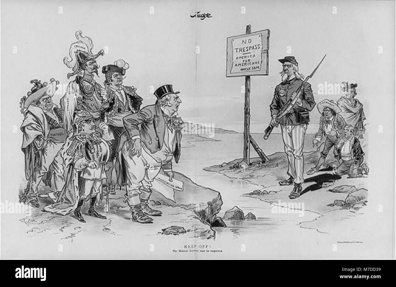 Keep off! The Monroe Doctrine must be respected LCCN2002697703 - Stock Image