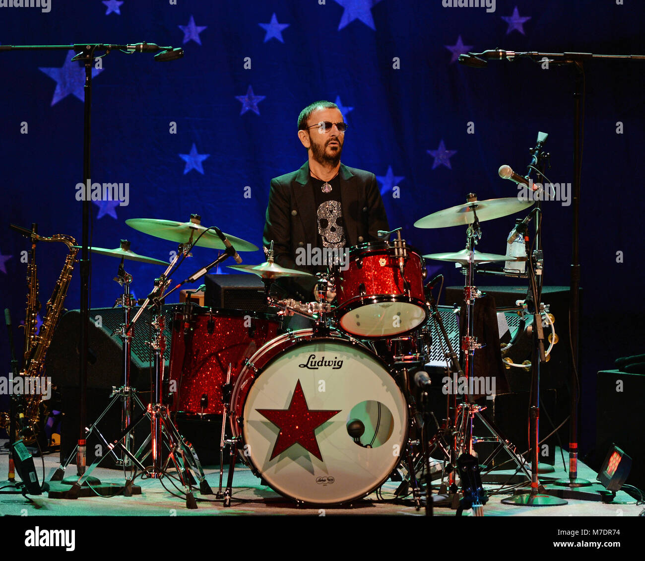 LAUDERDALE FL - OCTOBER 21: Ringo Starr performs at The Broward Center For The Performing Arts on October 21, 2014 - Stock Image