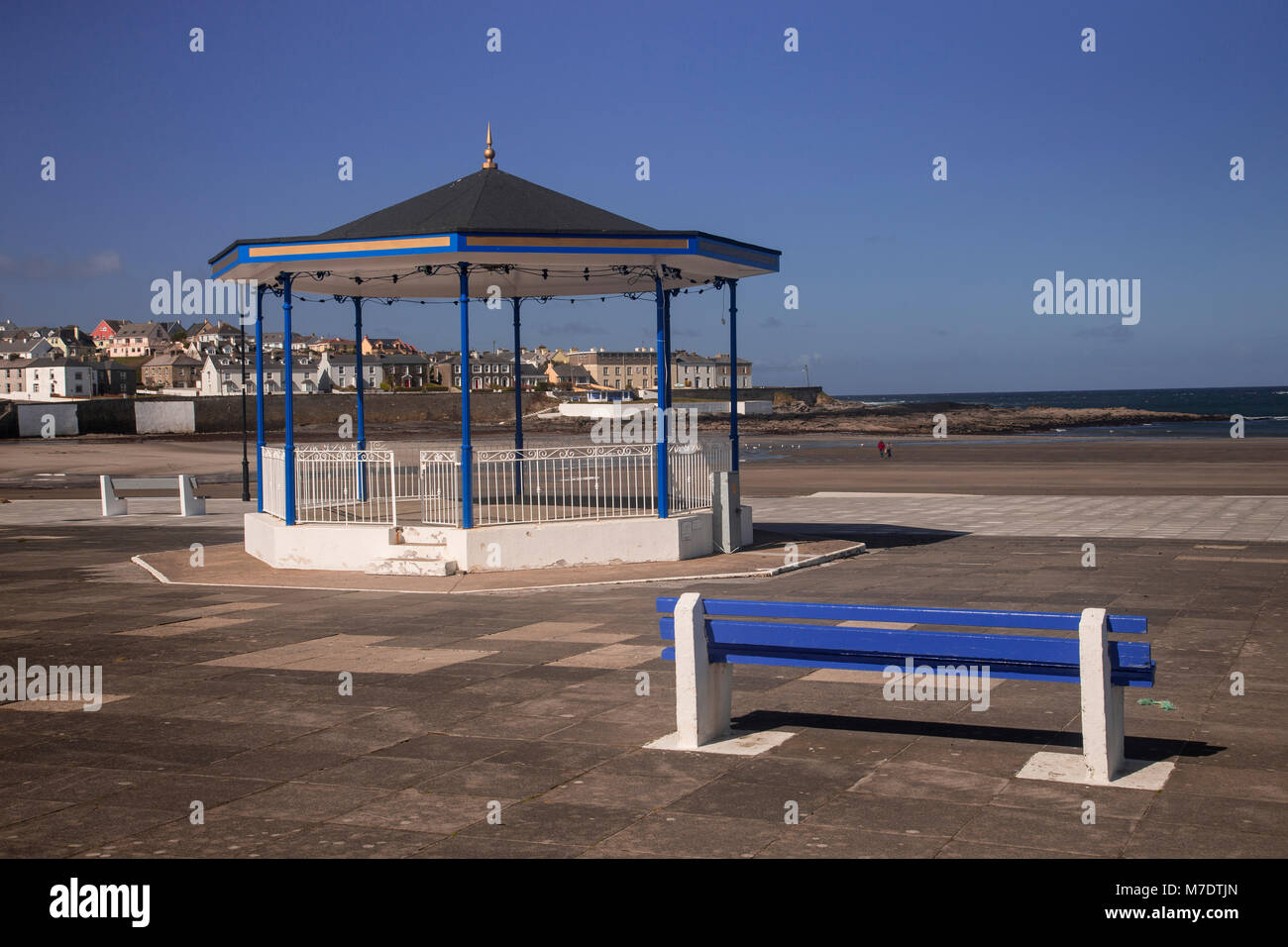 Bandstand on the promenade by the sea at Kilkee, Ireland - Stock Image