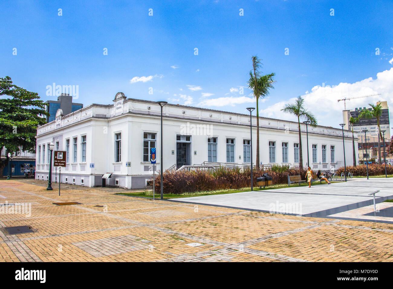 Itajai, Santa Catarina, Brazil - February 22th, 2018: The Casa de Cultura Dide Brandao at the downtown of Itajai, - Stock Image
