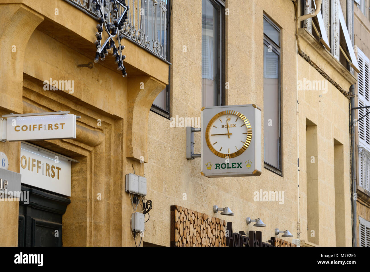 Rolex Watch Shop Aix-en-Provence France - Stock Image